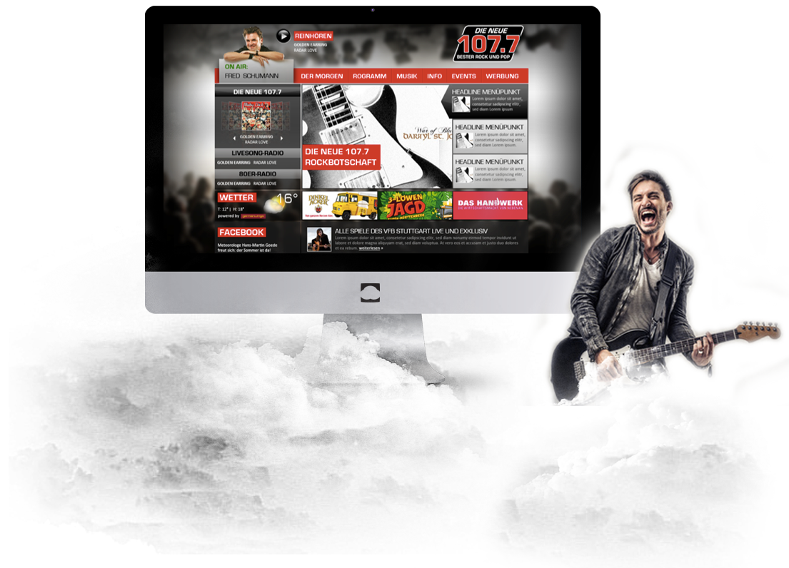 Website Relaunch Radio die neue 1077